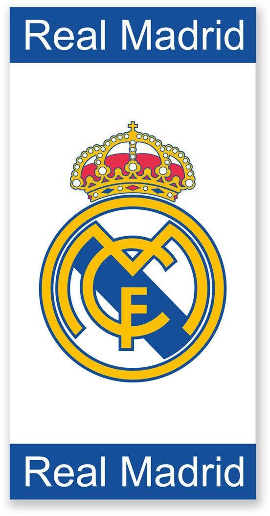 Real Madrid Badetuch Strandtuch blau-weiß